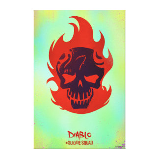 Suicide Squad   Diablo Head Icon Canvas Print