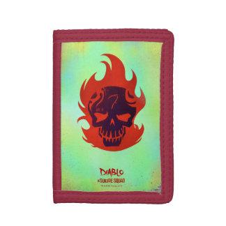 Suicide Squad   Diablo Head Icon Tri-fold Wallets