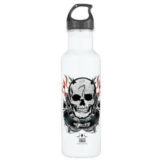 Suicide Squad | Diablo Skull & Flames Tattoo Art 710 Ml Water Bottle