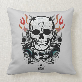 Suicide Squad | Diablo Skull & Flames Tattoo Art Cushion