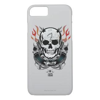 Suicide Squad   Diablo Skull & Flames Tattoo Art iPhone 8/7 Case