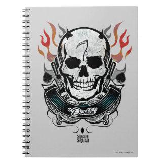 Suicide Squad | Diablo Skull & Flames Tattoo Art Notebook