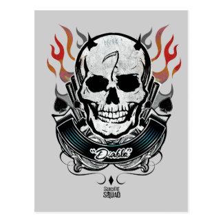 Suicide Squad | Diablo Skull & Flames Tattoo Art Postcard