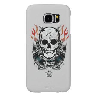 Suicide Squad   Diablo Skull & Flames Tattoo Art Samsung Galaxy S6 Cases