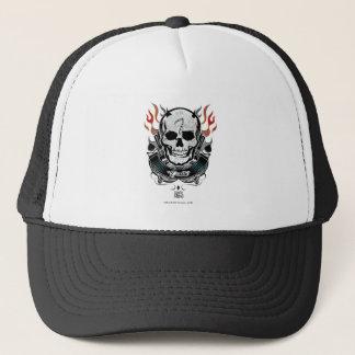 Suicide Squad | Diablo Skull & Flames Tattoo Art Trucker Hat