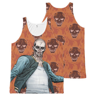 Suicide Squad | El Diablo Comic Book Art All-Over Print Tank Top