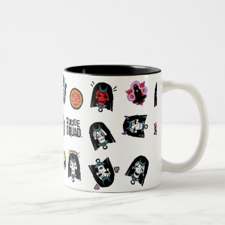 Suicide Squad | Enchantress Emoji Pattern Two-Tone Coffee Mug