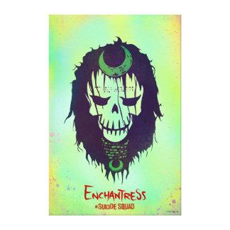 Suicide Squad | Enchantress Head Icon Canvas Print