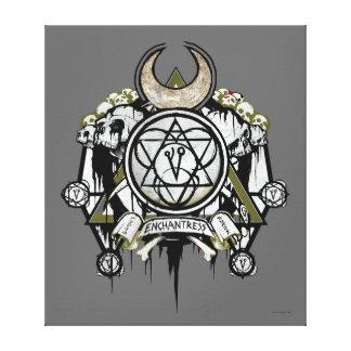 Suicide Squad   Enchantress Symbols Tattoo Art Canvas Print