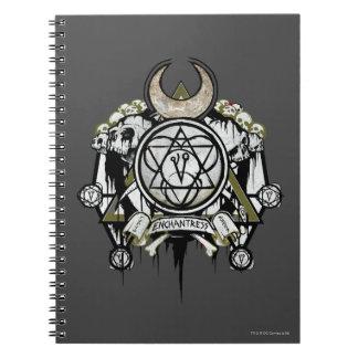 Suicide Squad | Enchantress Symbols Tattoo Art Notebook