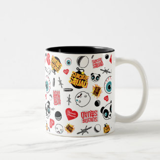 Suicide Squad | Friends Forever Pattern Two-Tone Coffee Mug