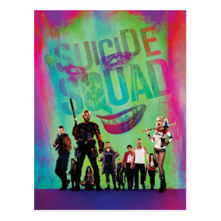 Suicide Squad | Green Joker & Squad Movie Poster Postcard