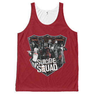 Suicide Squad   Group Badge Photo All-Over Print Tank Top