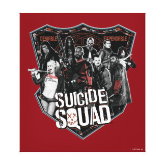 Suicide Squad   Group Badge Photo Canvas Print