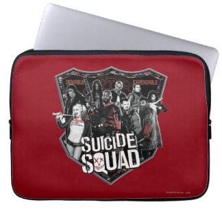 Suicide Squad | Group Badge Photo Laptop Sleeve