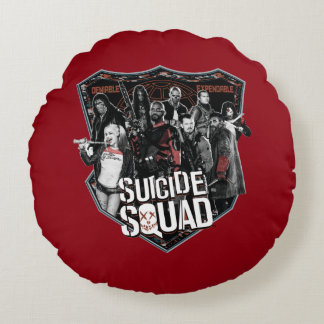 Suicide Squad | Group Badge Photo Round Cushion