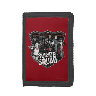 Suicide Squad | Group Badge Photo Tri-fold Wallets