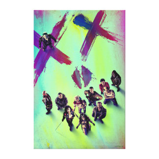 Suicide Squad | Group Poster Canvas Print