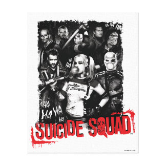 Suicide Squad   Grunge Group Photo Canvas Print