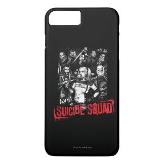 Suicide Squad   Grunge Group Photo iPhone 8 Plus/7 Plus Case