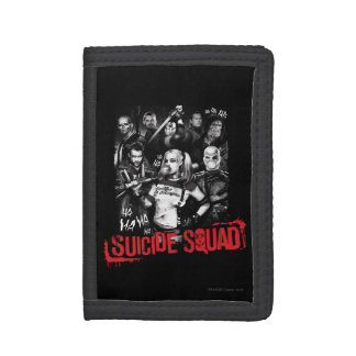 Suicide Squad   Grunge Group Photo Trifold Wallet