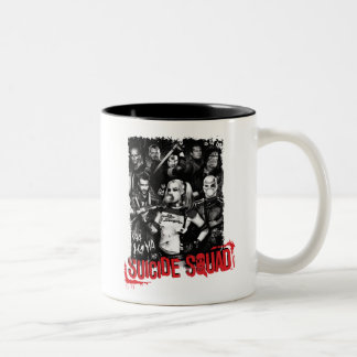 Suicide Squad | Grunge Group Photo Two-Tone Coffee Mug