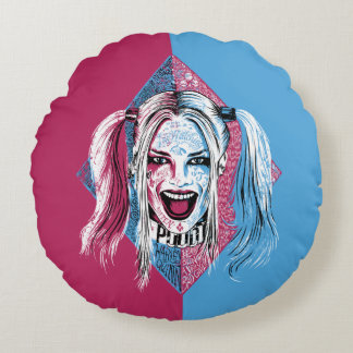 Suicide Squad | Harley Laugh Round Cushion