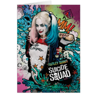 Suicide Squad | Harley Quinn Character Graffiti Greeting Card