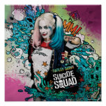 Suicide Squad | Harley Quinn Character Graffiti Poster