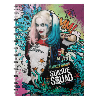 Suicide Squad | Harley Quinn Character Graffiti Spiral Notebooks