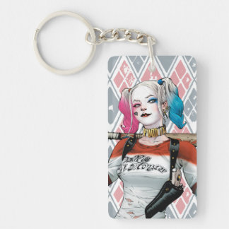 Suicide Squad | Harley Quinn Double-Sided Rectangular Acrylic Key Ring
