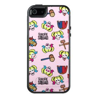 Suicide Squad | Harley Quinn Emoji Pattern OtterBox iPhone 5/5s/SE Case