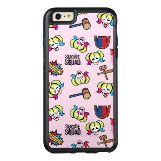 Suicide Squad   Harley Quinn Emoji Pattern OtterBox iPhone 6/6s Plus Case