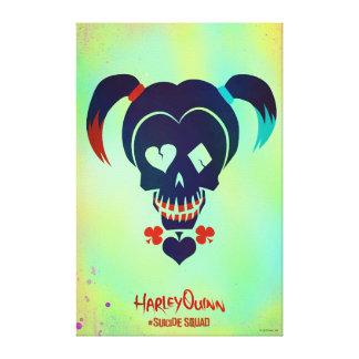 Suicide Squad   Harley Quinn Head Icon Canvas Print