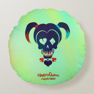 Suicide Squad | Harley Quinn Head Icon Round Cushion