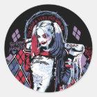 Suicide Squad   Harley Quinn Inked Graffiti Classic Round Sticker