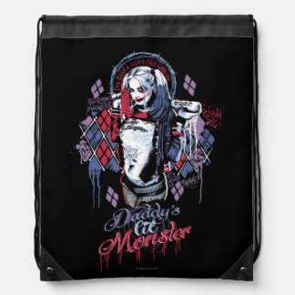 Suicide Squad | Harley Quinn Inked Graffiti Drawstring Backpack