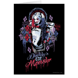 Suicide Squad | Harley Quinn Inked Graffiti Greeting Card