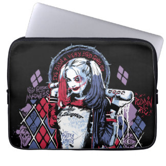 Suicide Squad | Harley Quinn Inked Graffiti Laptop Computer Sleeves