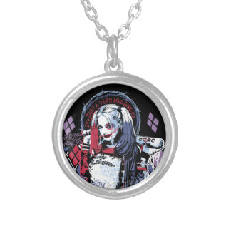 Suicide Squad | Harley Quinn Inked Graffiti Round Pendant Necklace