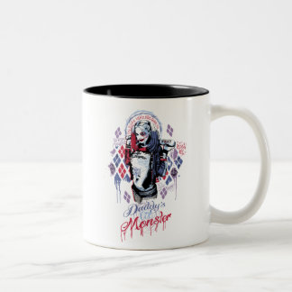 Suicide Squad   Harley Quinn Inked Graffiti Two-Tone Coffee Mug