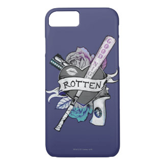 """Suicide Squad   Harley Quinn """"Rotten"""" Tattoo Art iPhone 8/7 Case"""