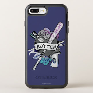 "Suicide Squad | Harley Quinn ""Rotten"" Tattoo Art OtterBox Symmetry iPhone 8 Plus/7 Plus Case"