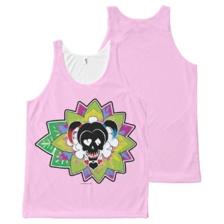 Suicide Squad | Harley Quinn Skull Tattoo Art All-Over Print Tank Top