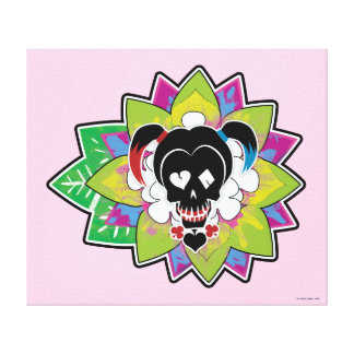 Suicide Squad | Harley Quinn Skull Tattoo Art Canvas Print
