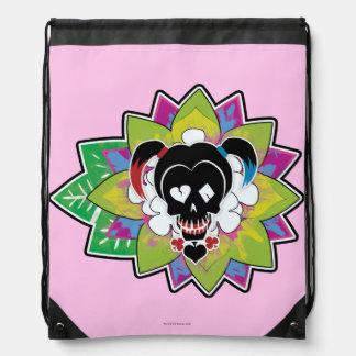 Suicide Squad | Harley Quinn Skull Tattoo Art Drawstring Bag