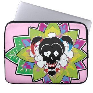 Suicide Squad | Harley Quinn Skull Tattoo Art Laptop Sleeve