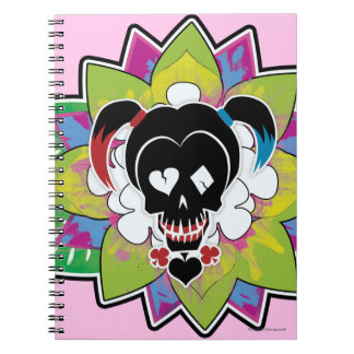 Suicide Squad | Harley Quinn Skull Tattoo Art Spiral Notebook