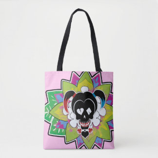 Suicide Squad | Harley Quinn Skull Tattoo Art Tote Bag