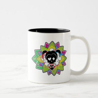 Suicide Squad | Harley Quinn Skull Tattoo Art Two-Tone Coffee Mug